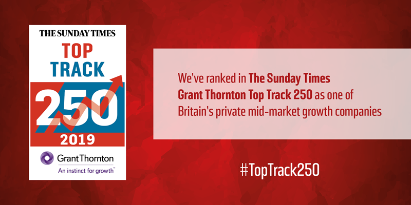 Barrett Steel positioned 59th on The Sunday Times Grant Thornton Top Track 250