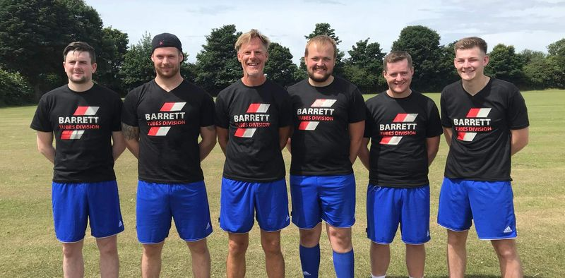 Barrett Steel Tubes North kick off to raise money for  local charity