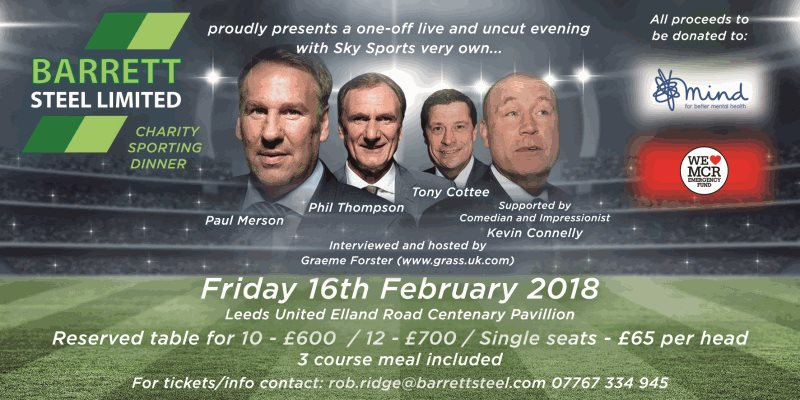 Barrett Steel Charity Sporting Dinner 2018