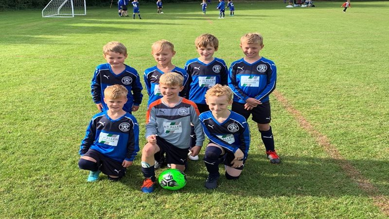A H Allen SteelStock Sponsor Trowell FC Under 8's Football Team