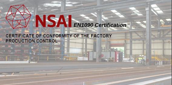 Barrett Steel Ireland gain their EN1090 Certification in Factory Production Control