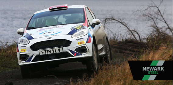 Newark Steel Sponsored Eddie Lewis lines up Junior British Rally Championship bid