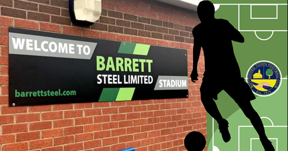 Bottesford Town FC forge ahead with sponsorship from local steel stockholder Barrett Steel Ltd
